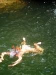 Wild swimming in Ratsos waterfall, Chalares Canyon Ikaria 2