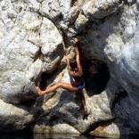 Nan climbs Nas Ikaria