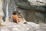 Nana can climb everywhere in Ikaria