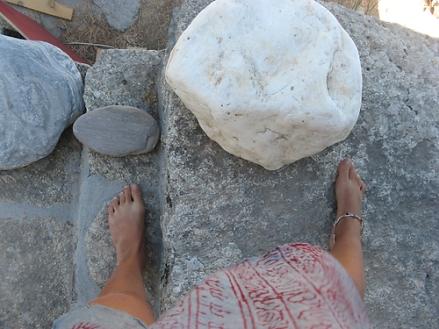 ikke staand op een stenen trap :P