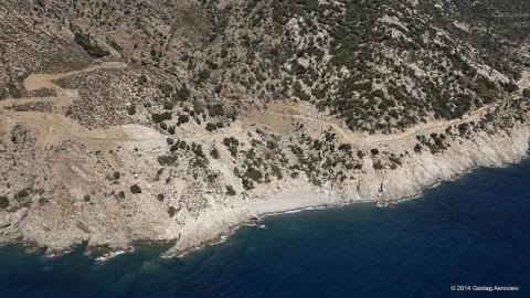 Ryakas secret cove near Manganitis Ikaria
