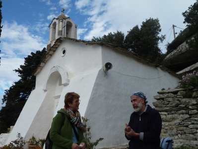 Birgit&Angelos in Theoktistis monastery Ikaria