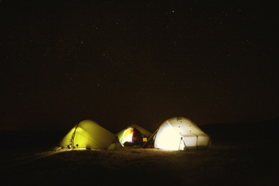 Mountain camping Easter