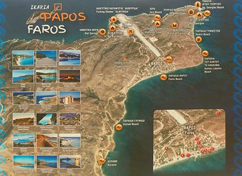Sign and Map in Faros village