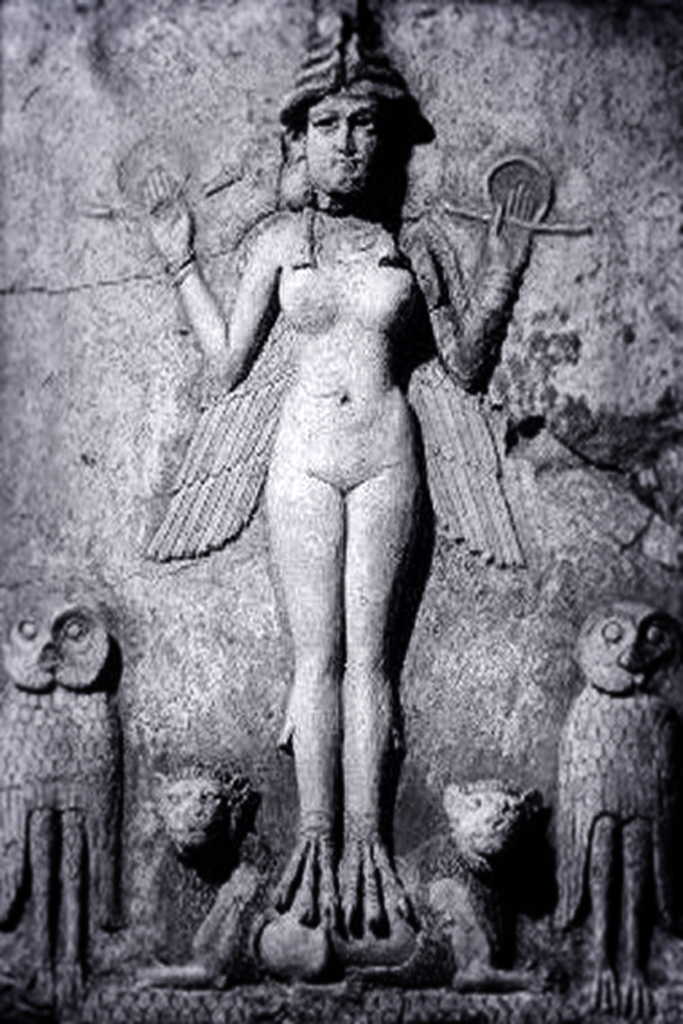 Inanna Ishtar, Queen of Heaven, the winged Goddess of Love, Wisdom, War, Fertility and Lust