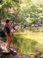 The lake we built in Ikaria, from Nana's article: 'Φτιάχνοντας μια Λίμνη στο Φαράγγι (1)'