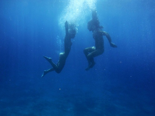 Original «Dive with me» from the set: «Under the same sky» by Peggy Zouti on Flickr