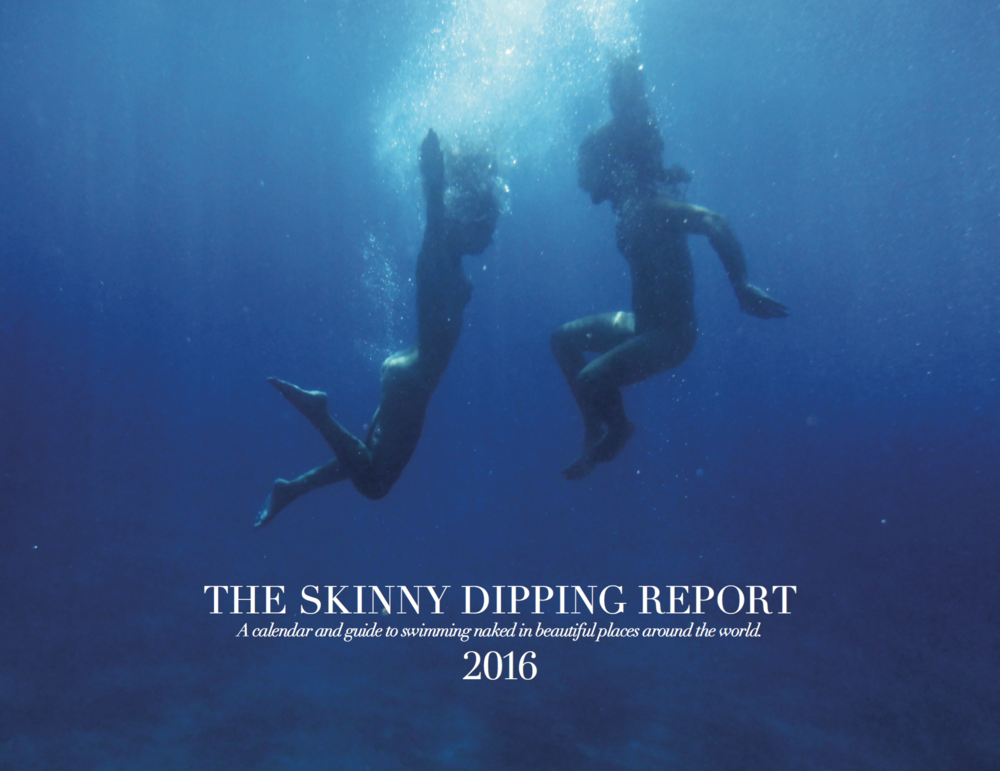 «Dive with me» by Peggy Zouti on The Skinny Dipping Calendar 2016