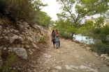 two happy friends in ikaria
