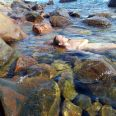 At the warm springs of Lefkada Ikaria in March