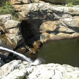 Pool to irrigate and to swim in Myrsonas river Ikaria