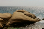 Girl on rockscape in Mavri Ikaria