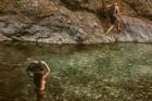 Τι θα κάνουμε το φετινό χειμώνα: The wet part of the trail in Chalares Canyon Ikaria